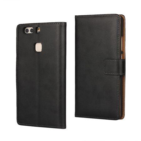 HTC U11 Luxus Leder Etui Case mit Kartenfach Flip Tasche Hülle SCHWARZ – Bild 1