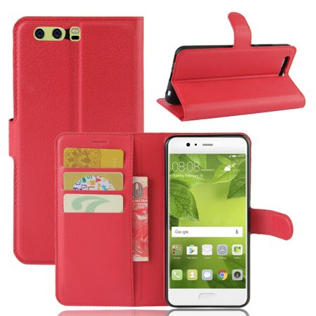 Sony Xperia XA1 Flip Etui Leder Case Tasche Hülle mit Kartenfach ROT – Bild 1