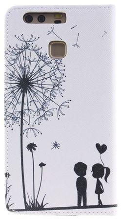 Sony Xperia XA1 Pusteblume Junge & Mädchen Leder Etui Flip Hülle Case Tasche WEISS – Bild 4
