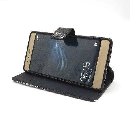 Sony Xperia XZ Premium Pusteblume Junge & Mädchen Leder Etui Flip Hülle Case Tasche SCHWARZ – Bild 3