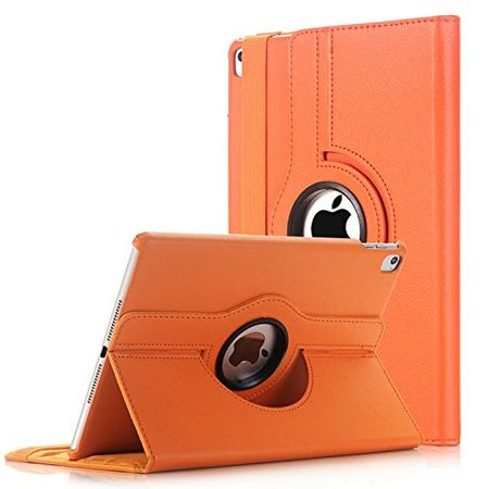 iPad Pro 10.5 360° Flip Etui Leder Smart Case Tasche Hülle ORANGE – Bild 1