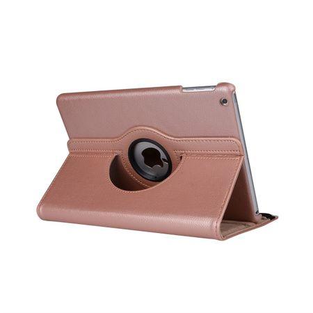 iPad Pro 10.5 360° Flip Etui Leder Smart Case Tasche Hülle ROSÉGOLD Pink – Bild 3