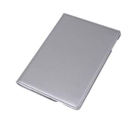 iPad Pro 10.5 360° Flip Etui Leder Smart Case Tasche Hülle SILBER – Bild 4