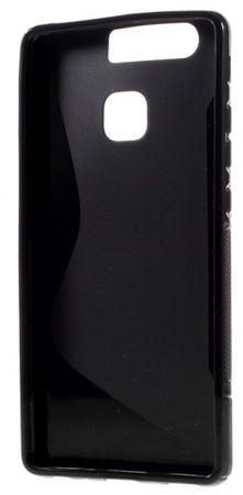 Huawei P9 Plus S-Line Gummi TPU Silikon Case Cover Hülle SCHWARZ – Bild 3