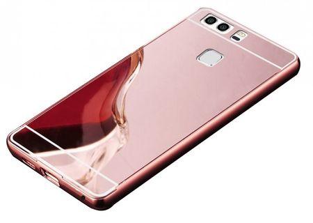 Huawei P9 Plus ALU Metall Bumper Case mit Mirror Spiegel-Rücken Cover Hülle ROSÉGOLD ROSÉ GOLD – Bild 3