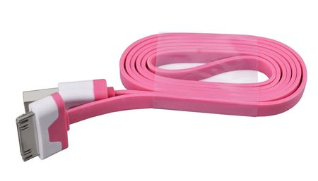 iPhone iPad 30-Pin Dock Ladekabel 1M FLACH PINK – Bild 3
