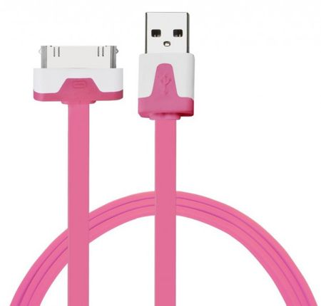 iPhone iPad 30-Pin Dock Ladekabel 2M FLACH PINK – Bild 1