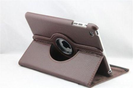 iPad Mini 1 / 2 / 3 360° Flip Etui Tasche Cover Leder Case BRAUN – Bild 2