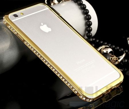 iPhone 6S Plus / 6 Plus Alu-Bumper Metall Bumper Case Hülle GOLD – Bild 4