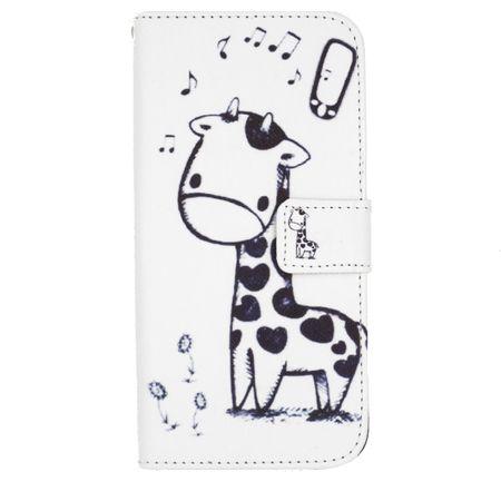 Samsung Galaxy J5 2017 Leder Etui Giraffe Tasche Flip Case Hülle Cover WEISS – Bild 1