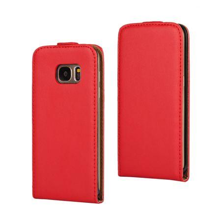 Samsung Galaxy J5 2017 Leder Flip Case Cover Etui Tasche Vertikal Hülle ROT – Bild 1
