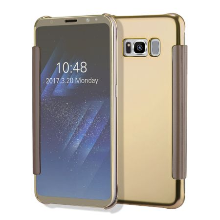 Samsung Galaxy J5 2017 Clear Window View Case Cover Spiegel Mirror Hülle GOLD – Bild 4