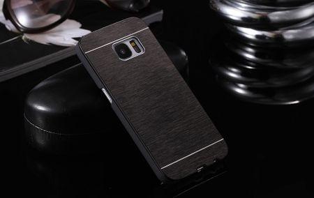 Samsung Galaxy J5 2017 Aluminium Metall Brushed Hard Case Cover Hülle SCHWARZ – Bild 2