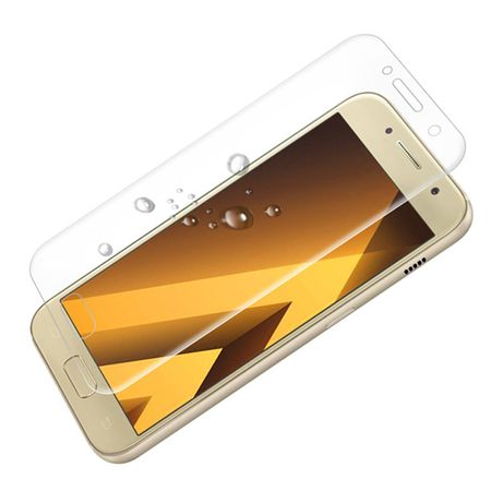 Samsung Galaxy J3 2017 RANDLOS Panzerglas Glas Schutzfolie Schutzglas Curved Tempered Glass TRANSPARENT – Bild 2