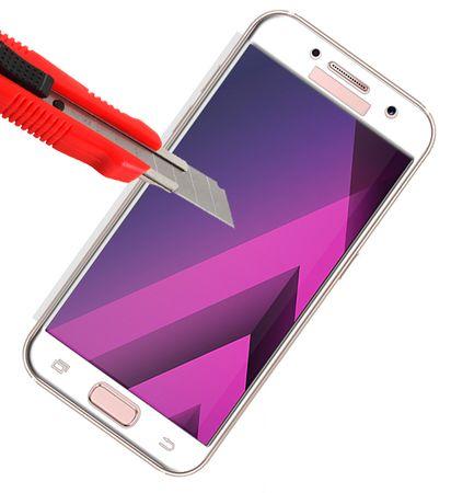 Samsung Galaxy J3 2017 RANDLOS Panzerglas Glas Schutzfolie Schutzglas Curved Tempered Glass WEISS – Bild 3