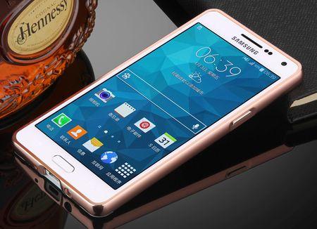 Samsung Galaxy J3 2017 Alu-Bumper Mirror mit Spiegel-Rücken Metall Bumper Case Hülle Aluminium ROSÉGOLD – Bild 2