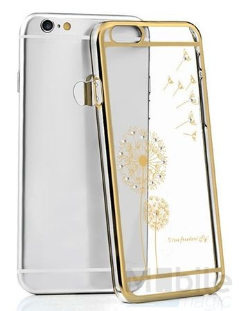 iPhone 6S Plus / 6 Plus Hard Case Glitzer Hülle TRANSPARENT Hardcase mit Glitzersteinen – Bild 1