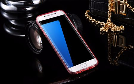 Samsung Galaxy J3 2017 Glitzer Hülle Gummi TPU Klar Silikon Crystal Clear Case ROSÉGOLD Pink Rosa – Bild 2