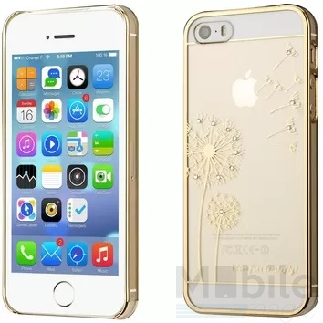 iPhone SE / 5S / 5 Glitzer Hard Case TRANSPARENT Hardcase Hülle mit Glitzersteinen – Bild 2