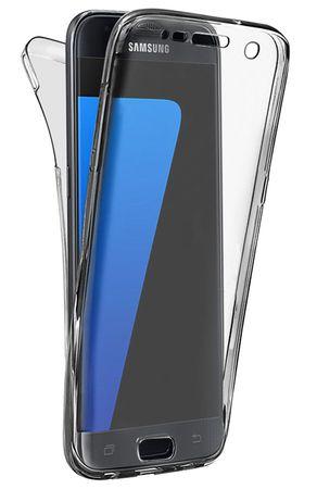 Samsung Galaxy J7 2017 TPU Gummi 360° Hülle RUNDUM Schutz Silikon Klar TRANSPARENT – Bild 1