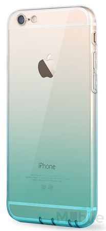 iPhone 6S Plus / 6 Plus Gummi TPU Silikon Clear Case Hülle Klar BLAU HELLBLAU TRANSPARENT – Bild 1