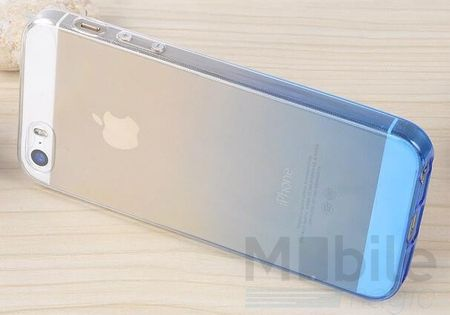 iPhone SE / 5S / 5 Gummi TPU Silikon Clear Case Hülle BLAU DUNKELBLAU – Bild 5