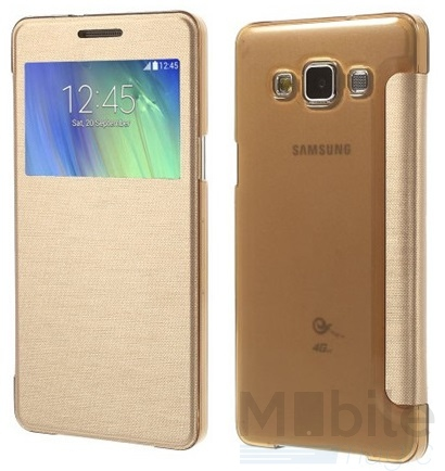 Samsung Galaxy A3 2015 Window View Cover Etui GOLD