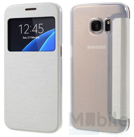 Samsung Galaxy S7 Edge Window View Cover Etui WEISS – Bild 2