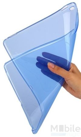 iPad mini 4 Gummi TPU Silikon Clear Case BLAU – Bild 4