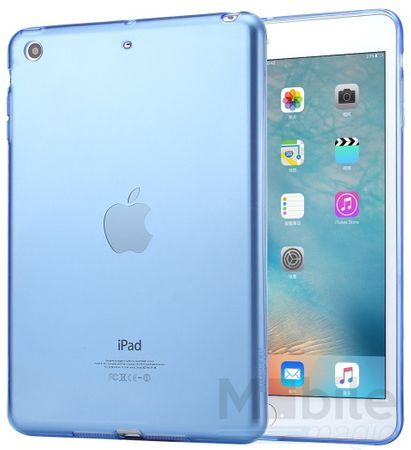 iPad mini 1 / 2 / 3 Gummi TPU Silikon Clear Case BLAU – Bild 1