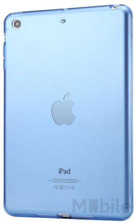 iPad mini 1 / 2 / 3 Gummi TPU Silikon Clear Case BLAU – Bild 2