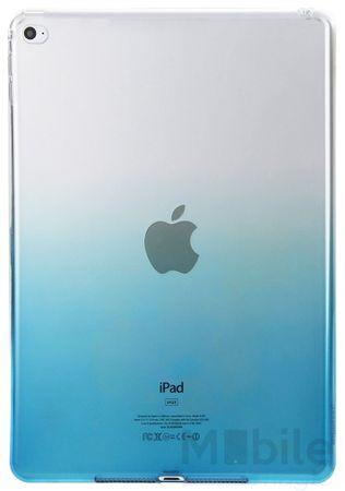iPad Air 2 Gummi TPU Silikon Case BLAU TRANSPARENT – Bild 2