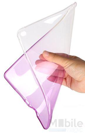 iPad Air 2 Gummi TPU Silikon Case LILA TRANSPARENT – Bild 2