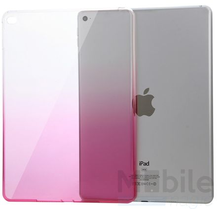 iPad mini 4 Gummi TPU Silikon Case Cover PINK ROSA TRANSPARENT – Bild 5