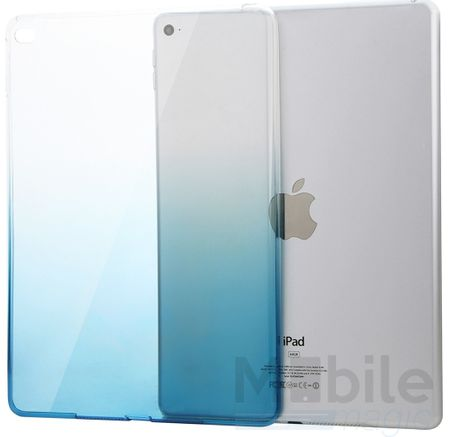 iPad mini 4 Gummi TPU Silikon Case Cover BLAU TRANSPARENT – Bild 1