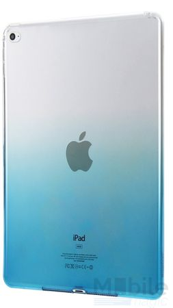 iPad mini 4 Gummi TPU Silikon Case Cover BLAU TRANSPARENT – Bild 3