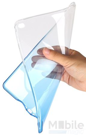iPad mini 4 Gummi TPU Silikon Case Cover BLAU TRANSPARENT – Bild 4