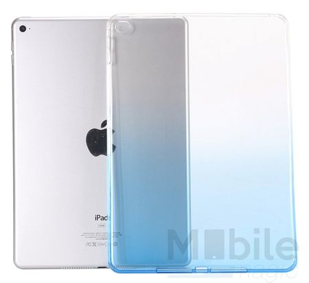 iPad mini 4 Gummi TPU Silikon Case Cover BLAU TRANSPARENT – Bild 5