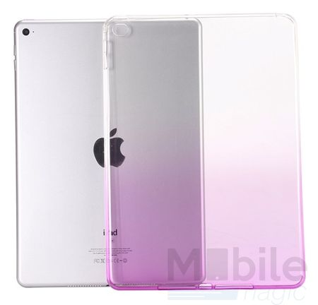 iPad mini 4 Gummi TPU Silikon Case LILA TRANSPARENT – Bild 1