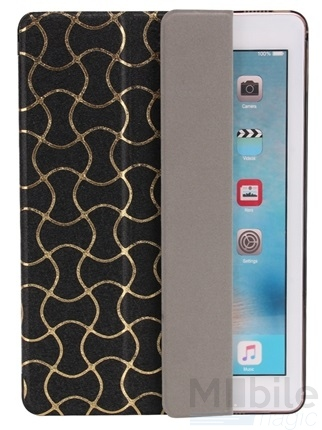 "iPad Pro 9.7"" Smart Luxus Etui Tasche Hülle SCHWARZ – Bild 4"