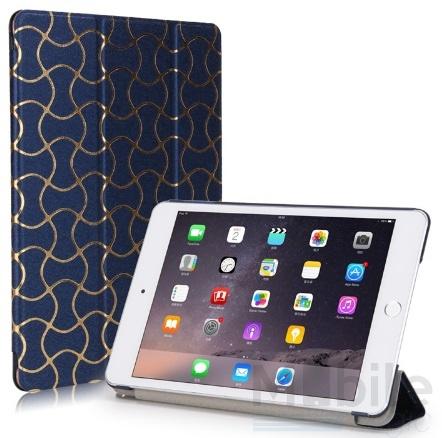 iPad mini 4 Smart Luxus Etui Tasche Hülle BLAU – Bild 1