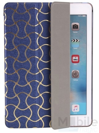 iPad mini 4 Smart Luxus Etui Tasche Hülle BLAU – Bild 5
