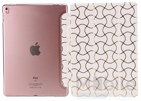 """iPad Pro 12.9"""" Smart Luxus Etui Tasche Hülle WEISS – Bild 3"""