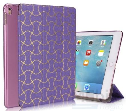 """iPad Pro 12.9"""" Smart Luxus Etui Tasche Hülle LILA VIOLETT – Bild 1"""