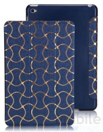 iPad Air 2 Smart Luxus Etui Tasche Hülle BLAU – Bild 4