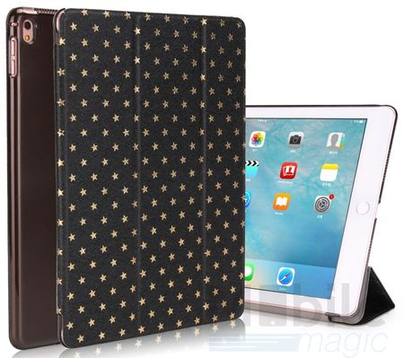 """iPad Pro 9.7"""" Luxus Stars Smart Sterne Etui Tasche Hülle SCHWARZ – Bild 1"""