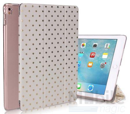"iPad Pro 9.7"" Luxus Stars Smart Sterne Etui Tasche Hülle WEISS – Bild 1"