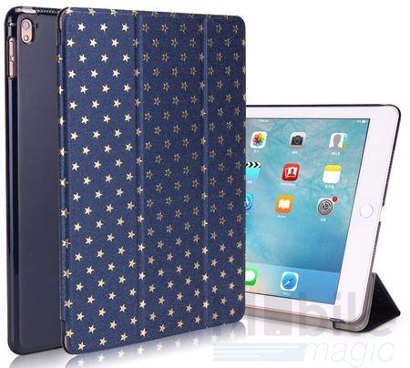 "iPad Pro 9.7"" Luxus Stars Smart Sterne Etui Tasche Hülle BLAU – Bild 1"