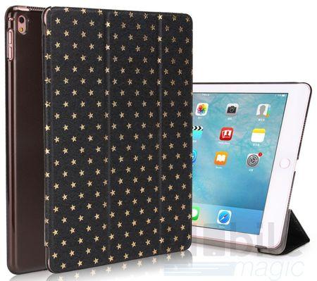 """iPad Pro 12.9"""" Luxus Stars Smart Sterne Etui Tasche Hülle SCHWARZ – Bild 1"""