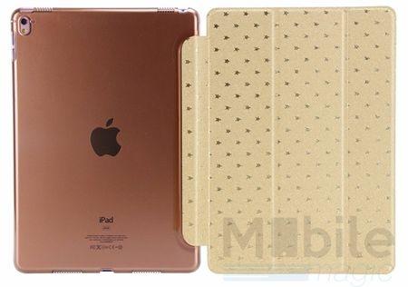 "iPad Pro 12.9"" Luxus Stars Smart Sterne Etui Tasche Hülle GOLD – Bild 4"